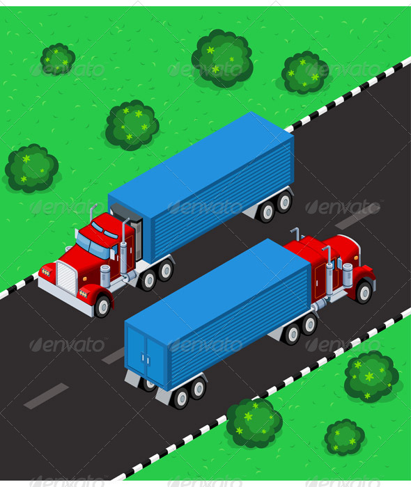 GraphicRiver Isometric Truck 6339774