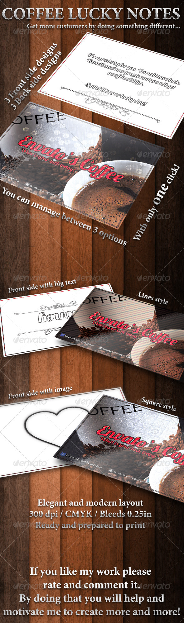 GraphicRiver Coffee lucky notes 6339777