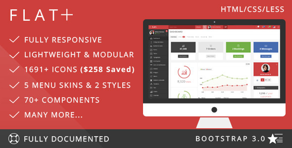 Folow me to download responsive theme free daily: Download FLAT PLUS ...