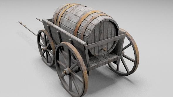 3DOcean Barrel Carriage 6317147