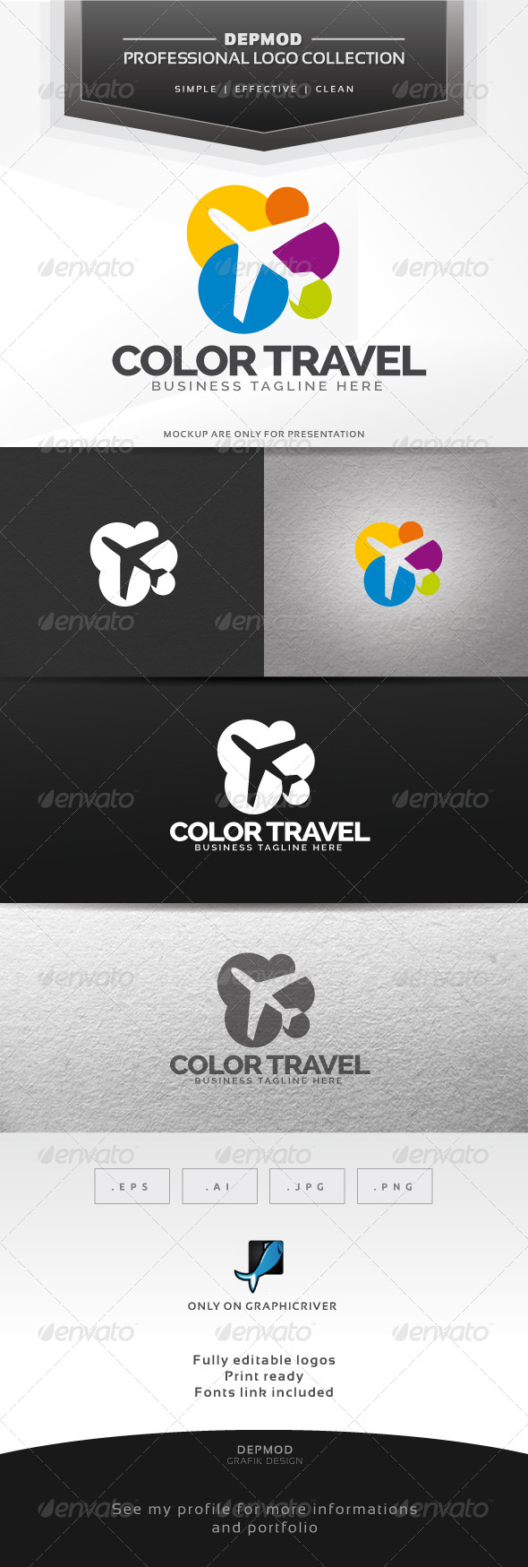 GraphicRiver Color Travel Logo 6339901