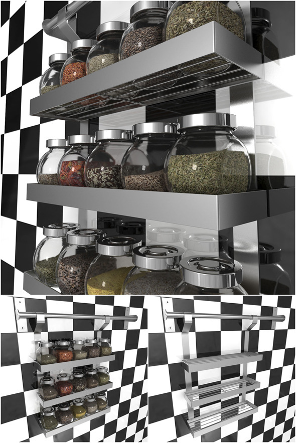 GRUNDTAL Spice Rack by IKEA  - 3DOcean Item for Sale