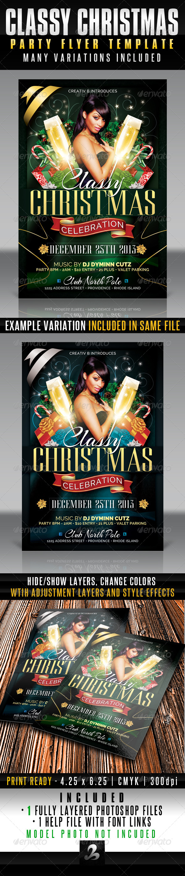 GraphicRiver Classy Christmas Party Flyer Template 6340018
