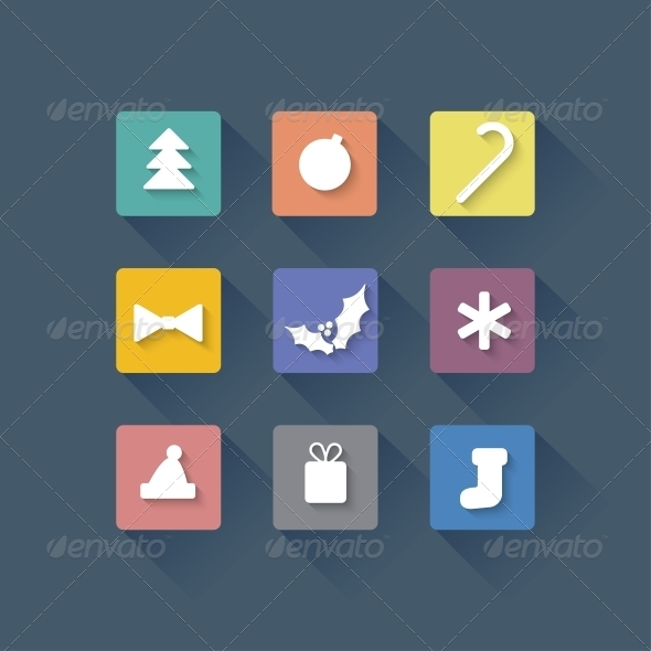 GraphicRiver Seamless Vector Background with Christmas Elements 6340036