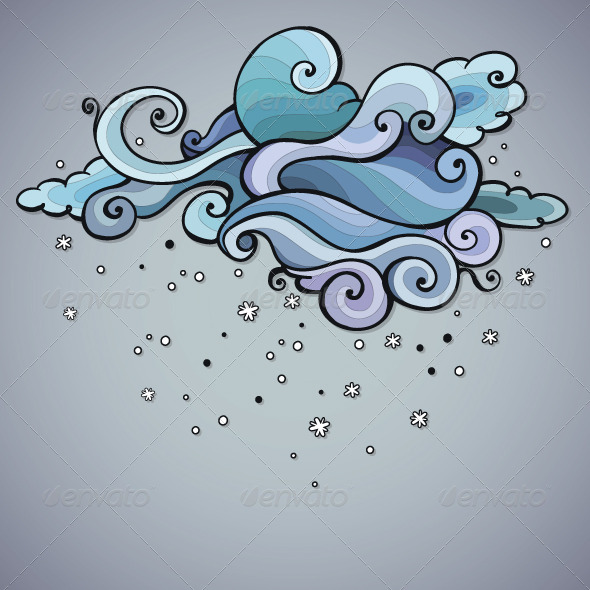 GraphicRiver Snowing Cloud Swirls 6340044