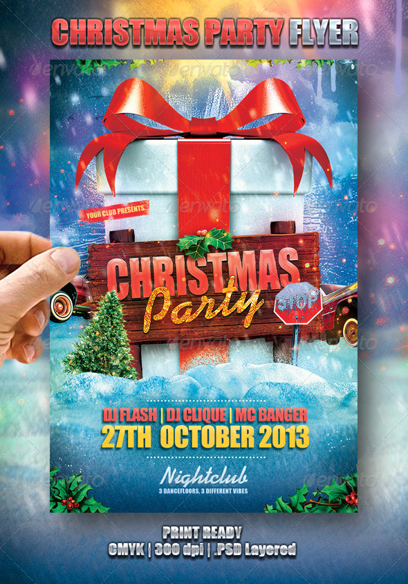 GraphicRiver Christmas Party Flyer 6309345