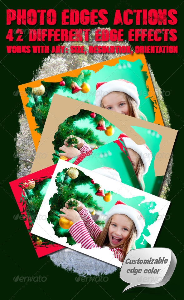 GraphicRiver Photo Edges Actions for Photoshop Vol 4 6340197