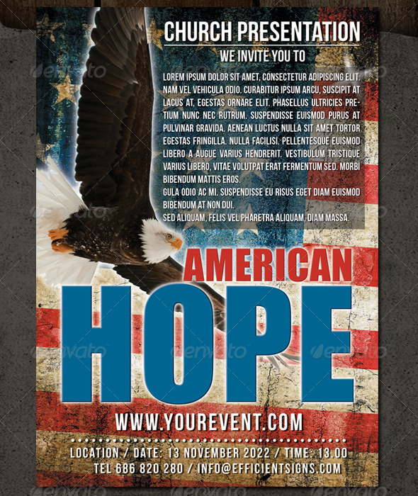 GraphicRiver American Hope Flyer 6340513