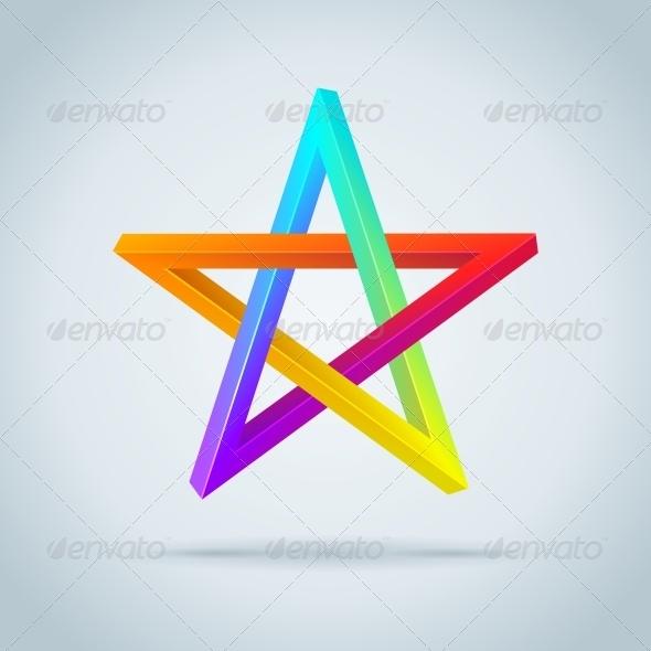 GraphicRiver Colorful Inconceivable Pentagram 6340875