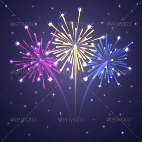GraphicRiver Colorful Illuminated Fireworks 6341128
