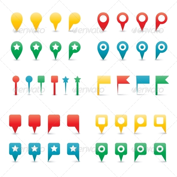GraphicRiver Colorful Map Pins 6341129