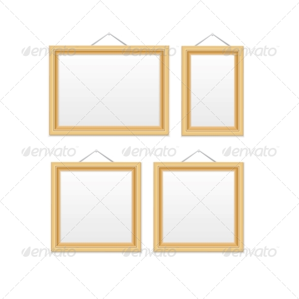 GraphicRiver Gold Picture Frames 6341143