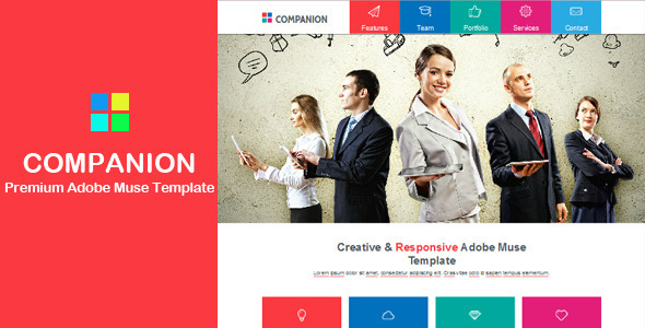 ThemeForest Companion Multi-purpose Muse Template 6266857