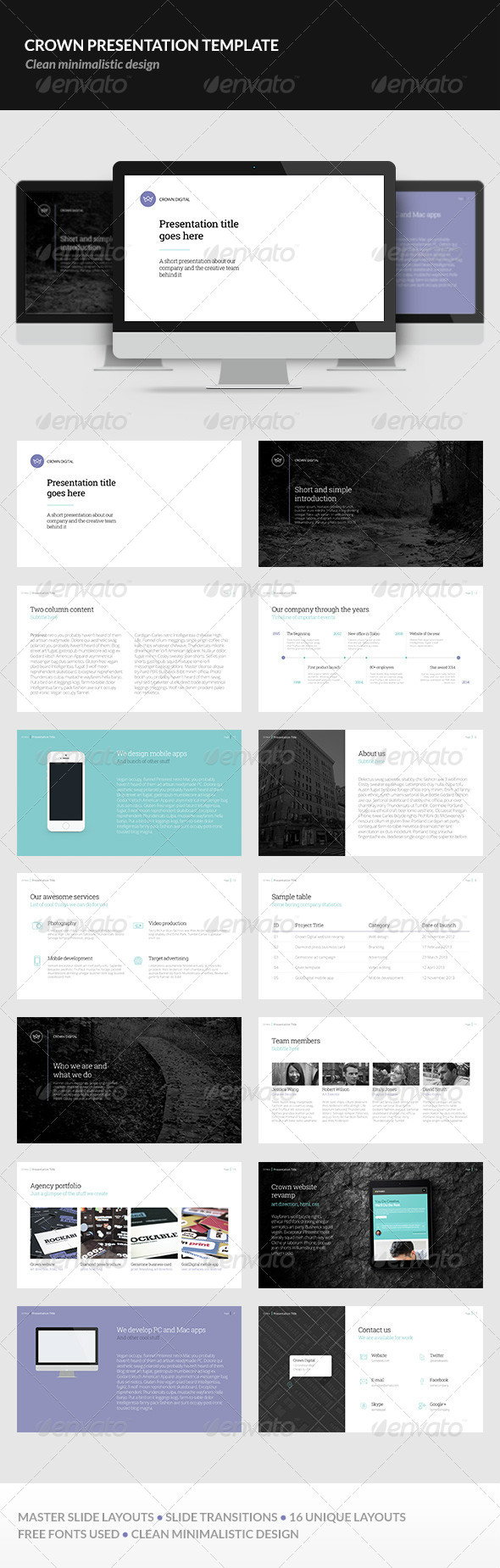 GraphicRiver Crown Presentation Template 6147305