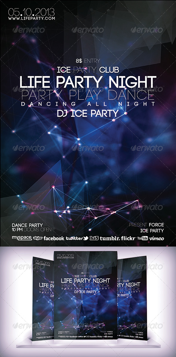 GraphicRiver Life Party Night Fyer 6341571