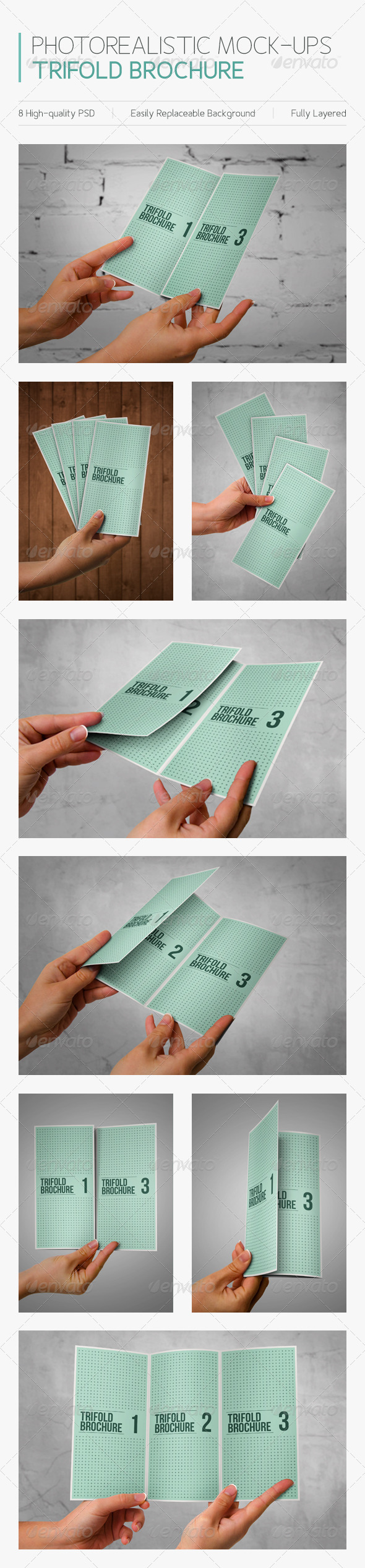 GraphicRiver Photorealistic Mock-ups Brochures 6341583