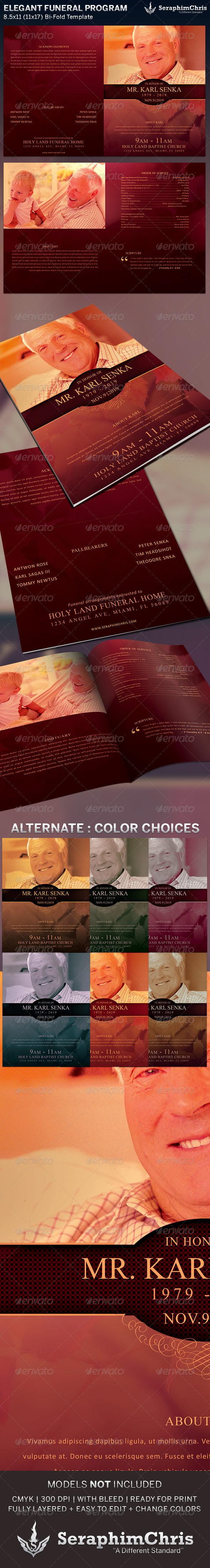 GraphicRiver Elegant Funeral Program Bi-Fold Template 6341646