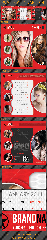 GraphicRiver Wall Calendar 2014 6341655