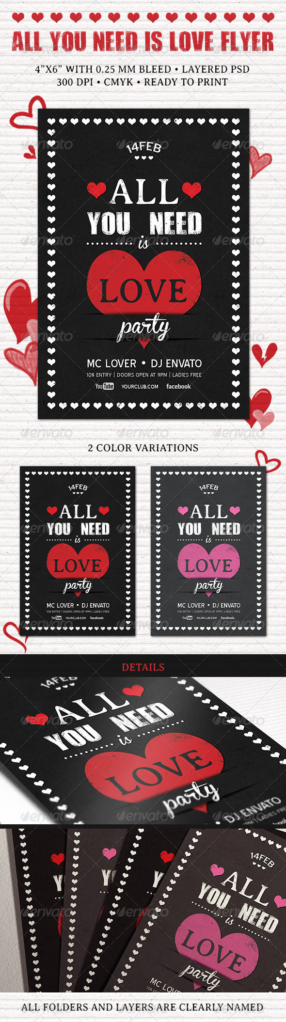 GraphicRiver All You Need is Love Flyer 6341763