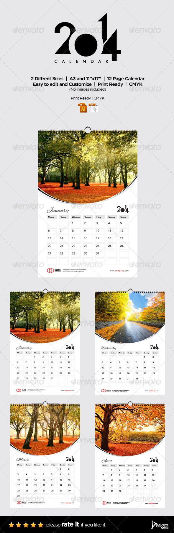 GraphicRiver Wall Calendar 2014 Vol 2 6342105