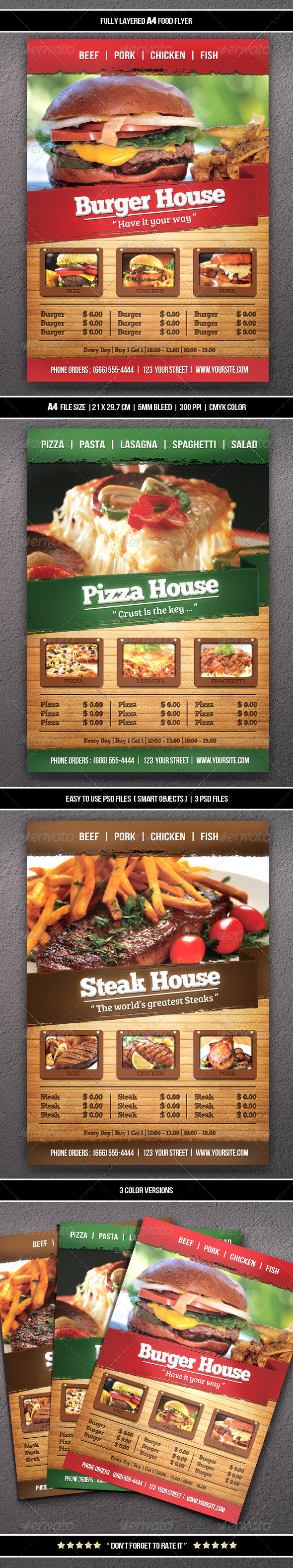 GraphicRiver Food Flyer A4 6342225