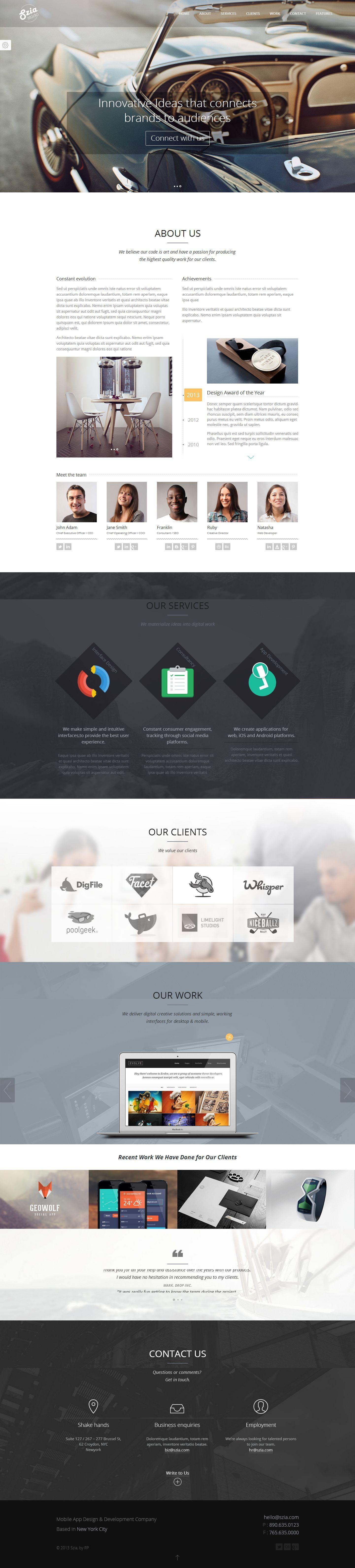 Szia - Responsive One Page Portfolio
