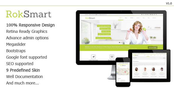 RokSmart - Responsive Multi-Purpose Drupal Theme