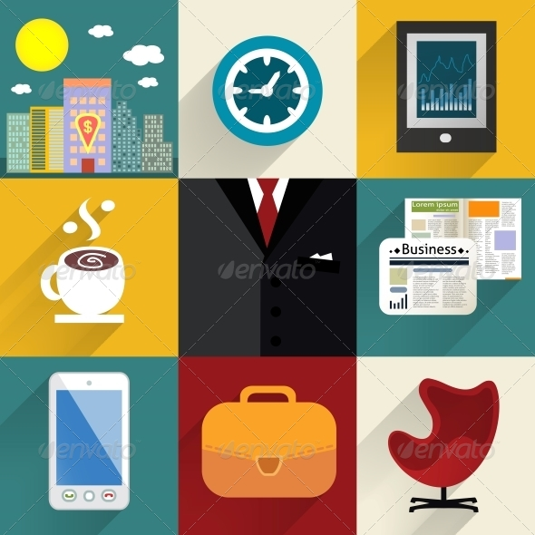 GraphicRiver Business Set of Generic Icons 6342847