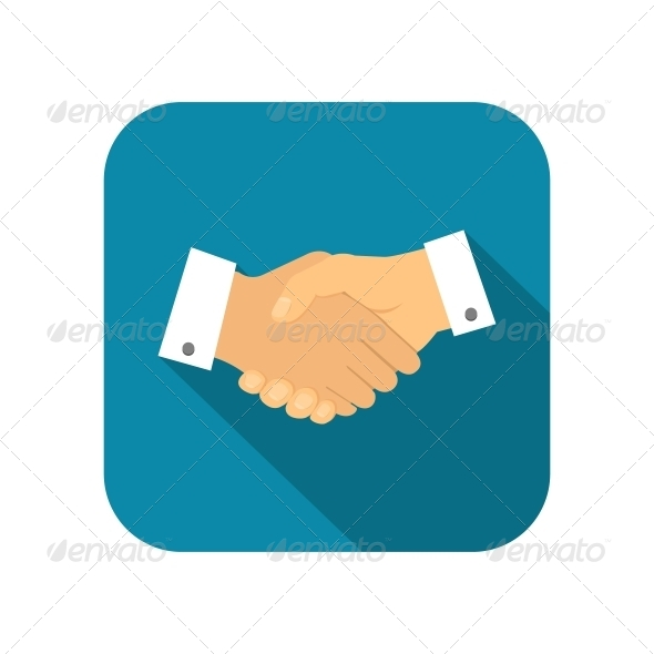 GraphicRiver Businessman Handshake Icon 6342859