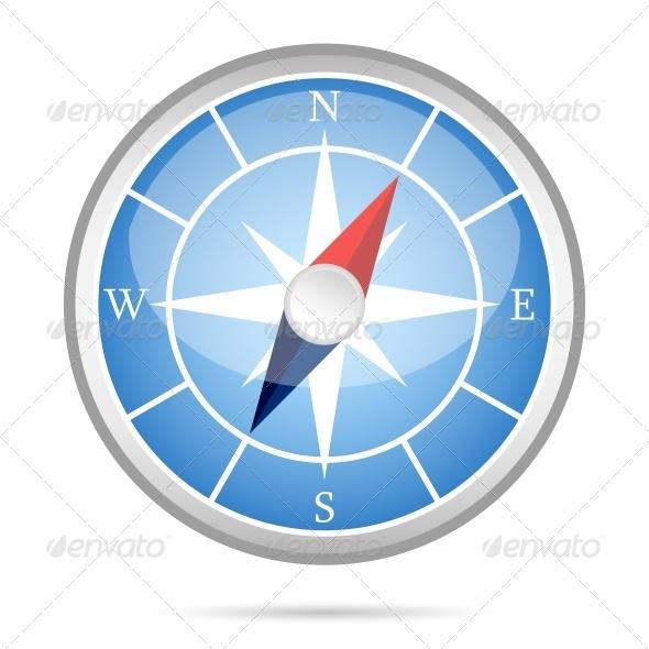 GraphicRiver Modern Compass Icon 6342870
