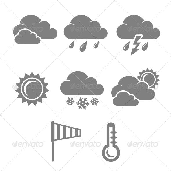 GraphicRiver Weather Symbols Set 6342936