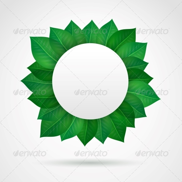GraphicRiver Empty Leaves Frame 6343031