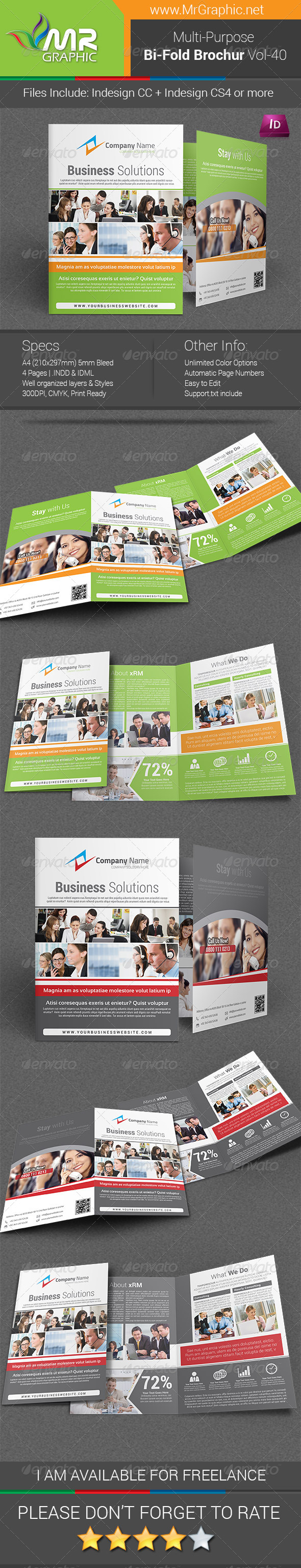 GraphicRiver Multipurpose Bi-fold Brochure Template Vol-40 6321708