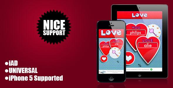 CodeCanyon Love Meter iOS Universal Application iAd 6328489