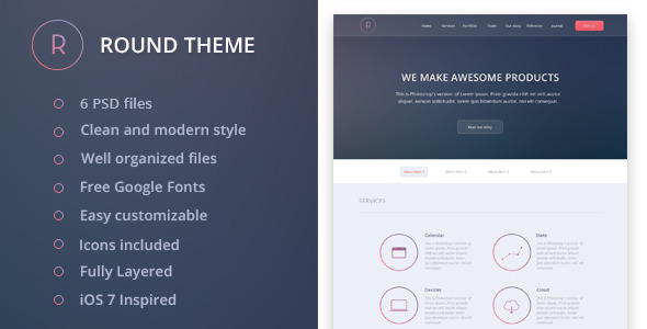 Round PSD Template