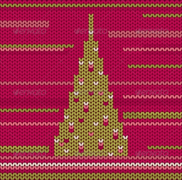 GraphicRiver Knitted Christmas Tree 6343957