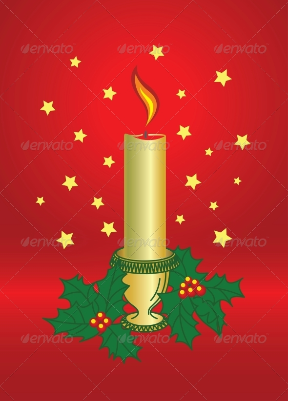 GraphicRiver Vector Christmas Candle 6344084