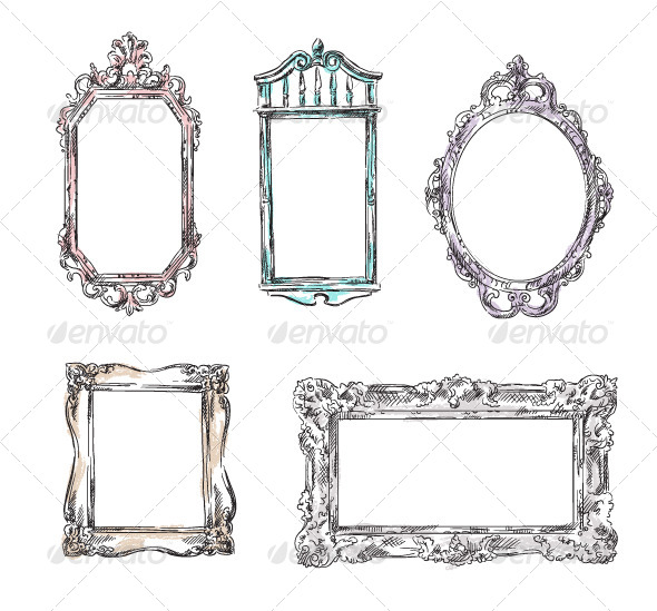 GraphicRiver Set of Retro Frames 6344691