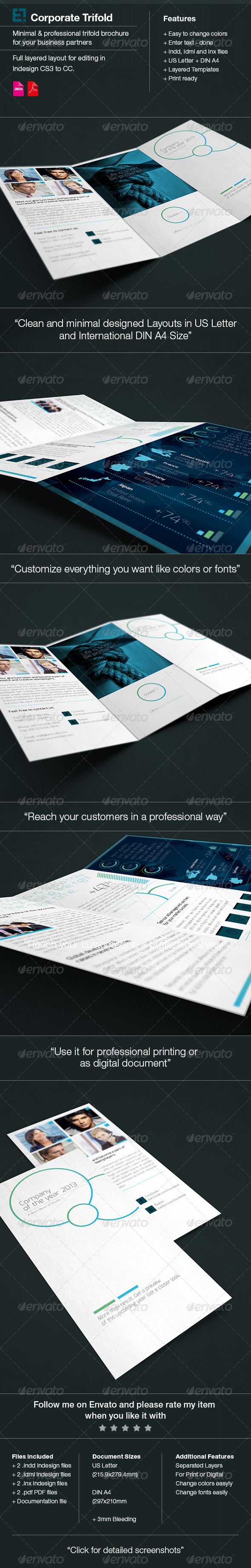GraphicRiver Trifold Brochure DoubleInk White 6345096