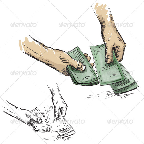 GraphicRiver Hands Counting Cash Money 6345330