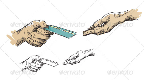Hands Passing Ccredit Card