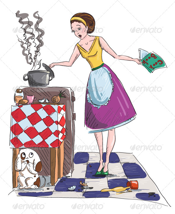 GraphicRiver Housewife Vector Illustration 6345371