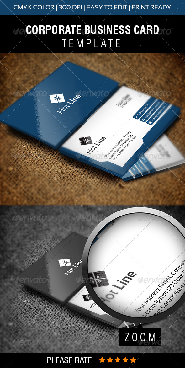 GraphicRiver Hot Line Business Card 6345450