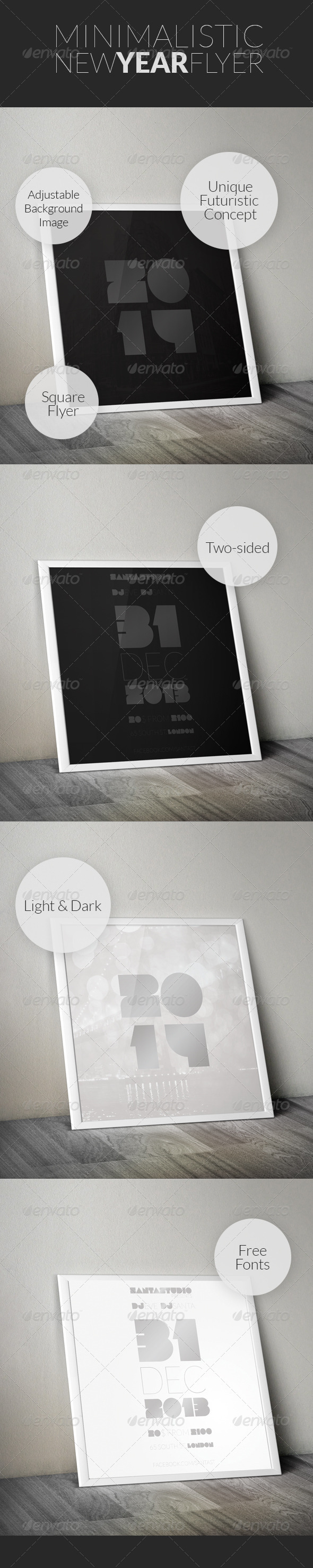 GraphicRiver Minimal New Year Flyer 6345480