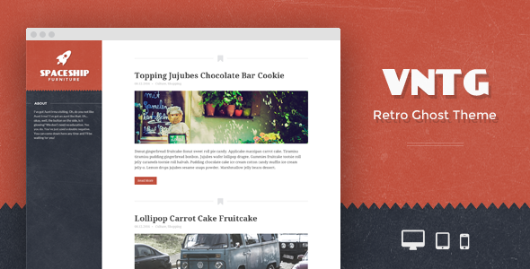 VNTG - Fully Responsive Vintage Ghost Theme