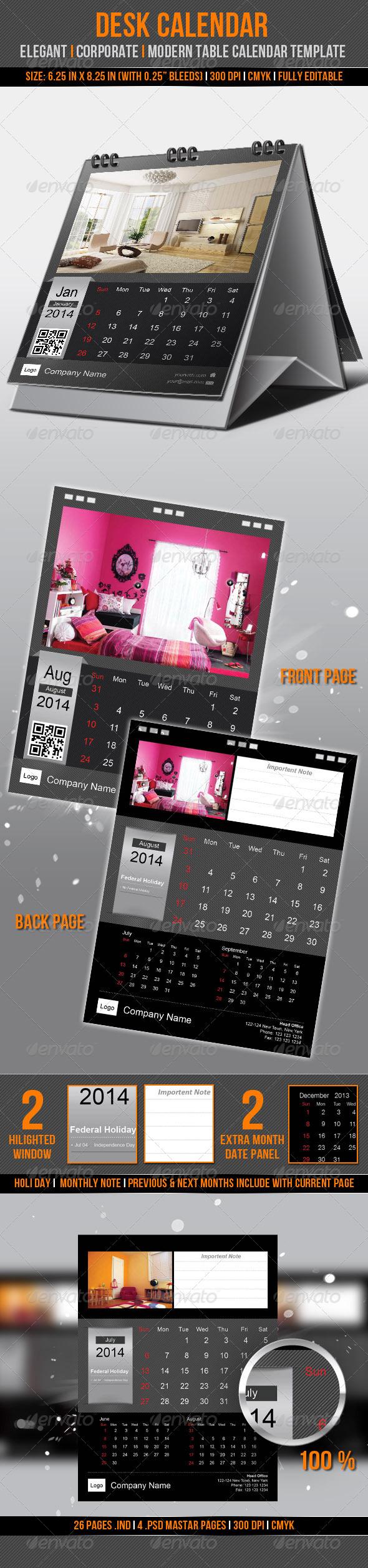 Desk Calendar 2014 - Calendars Stationery