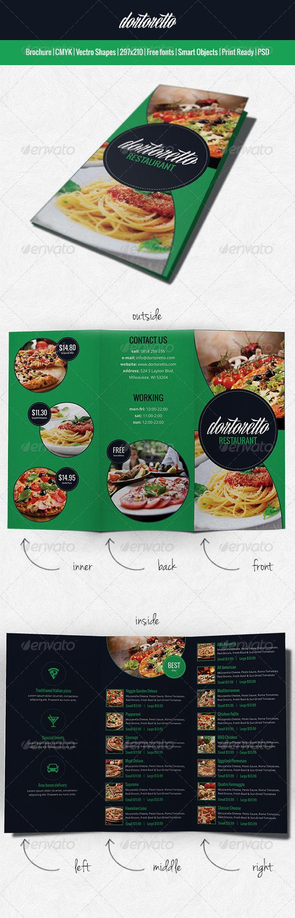 GraphicRiver Dortoretto Brochure restaurant 6318136