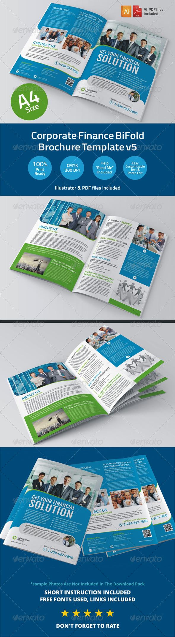GraphicRiver Corporate Finance BiFold Brochure Template v5 6345849