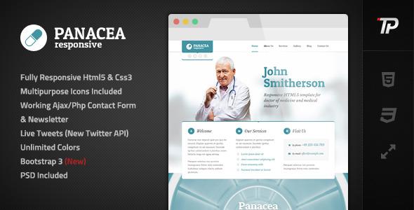Panacea Responsive Parallax Site Template