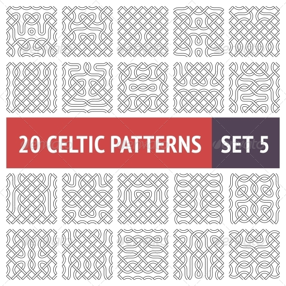 GraphicRiver Celtic Patterns Set 6345998